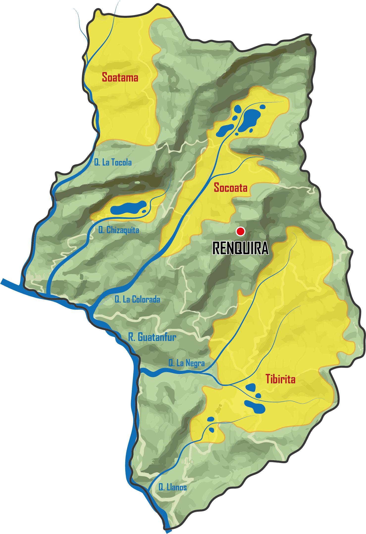 Mapa Tibirita Muisca